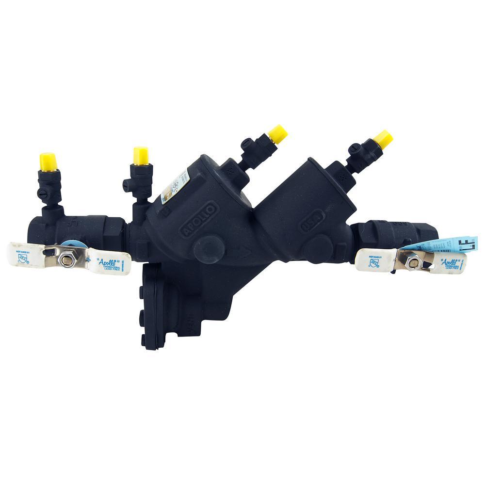 1 in. Reduced Pressure Backflow Preventer, Lead Free, Black