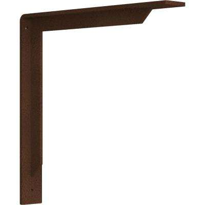 2 in. x 14 in. x 14 in. Steel Hammered Copper Stockport Bracket