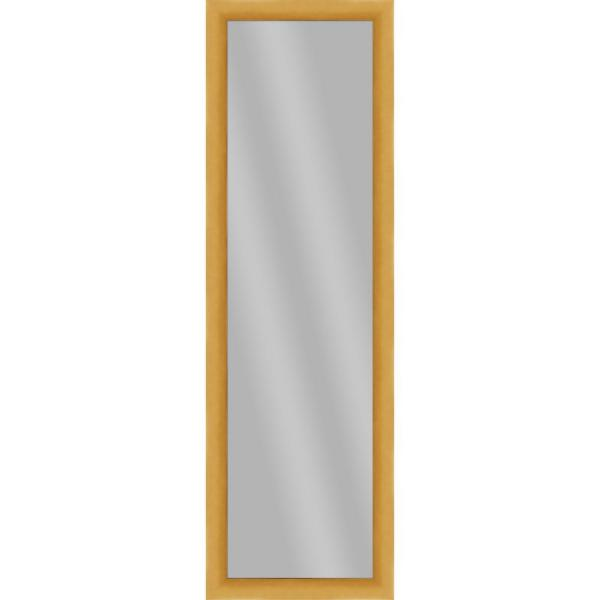 Large Rectangle Antique Gold Art Deco Mirror (51.875 in. H x 15.875 in. W)