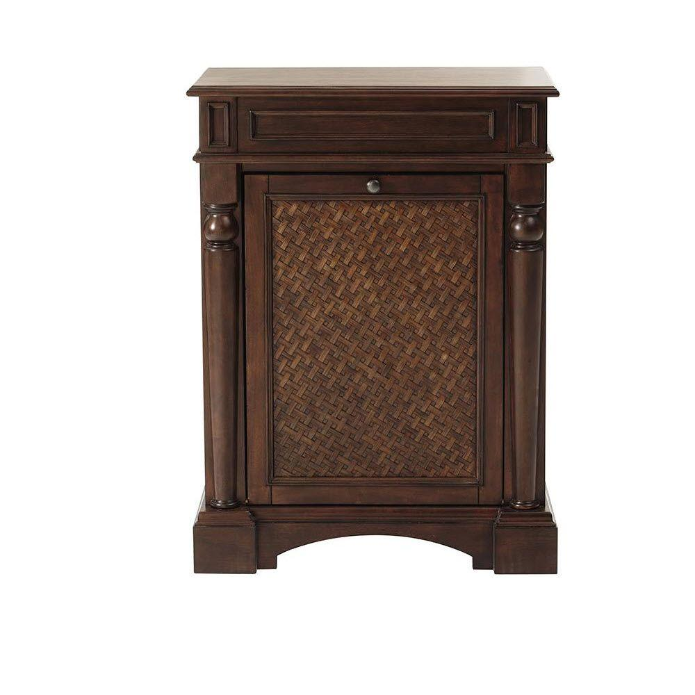Home Decorators Collection Palermo Tilt-Out Hamper in Antique Cherry
