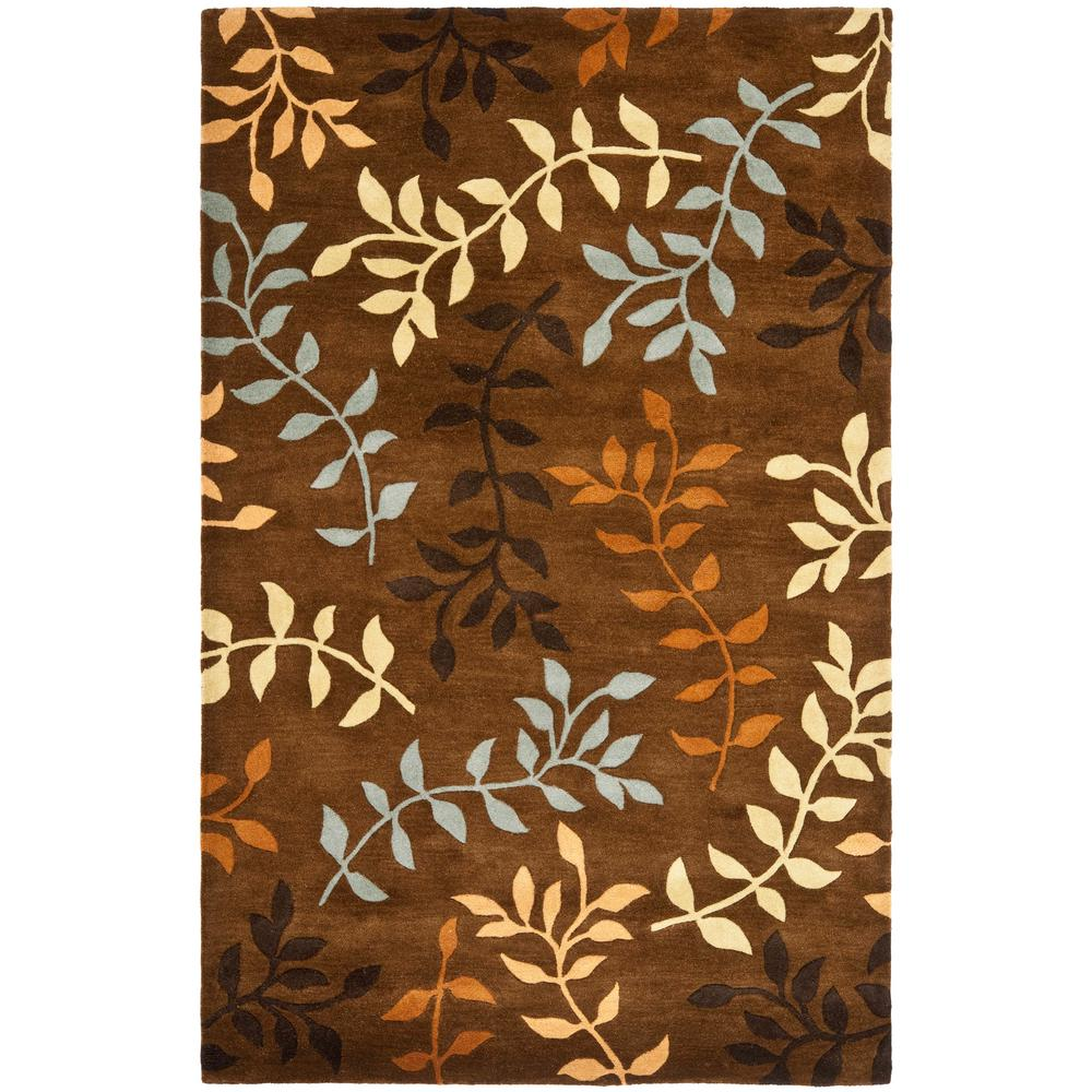 safavieh soho brown multi 7 ft 6 in x 9 ft 6 in area rug soh833a 8 the home depot. Black Bedroom Furniture Sets. Home Design Ideas
