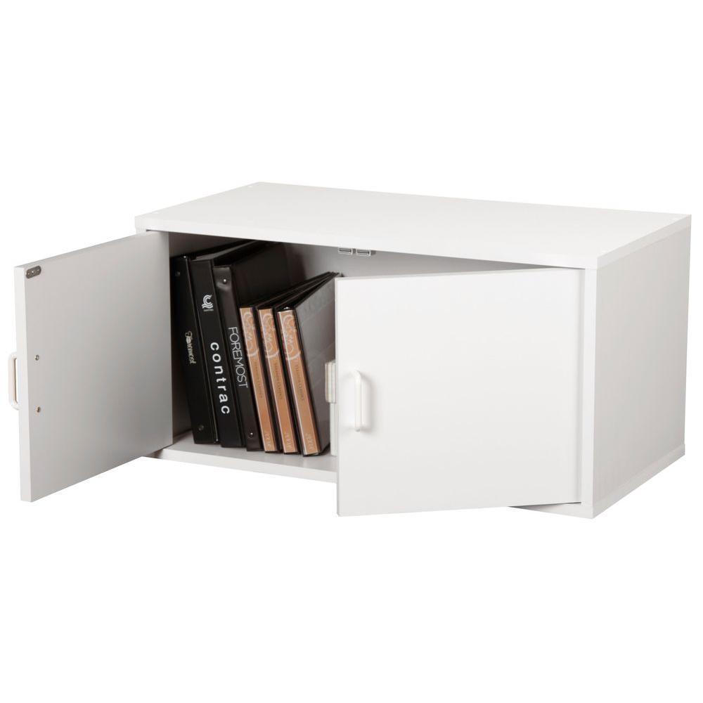 30 in. White 2-Door Large Cube