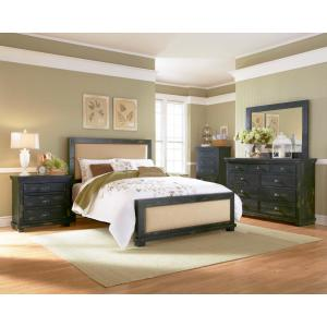 Willow 3-Drawer Distressed Black Nightstand