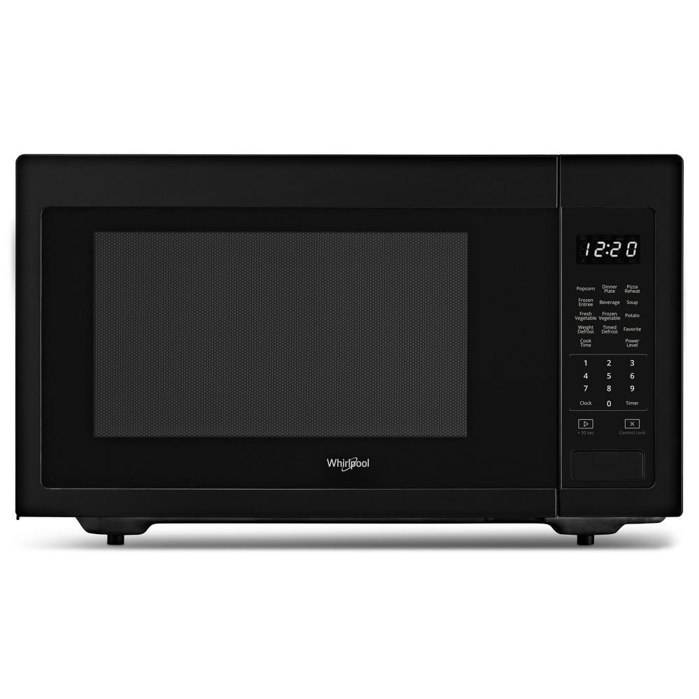1.6 cu. ft. Countertop Microwave in Black with 1,200-Watt Cooking Power