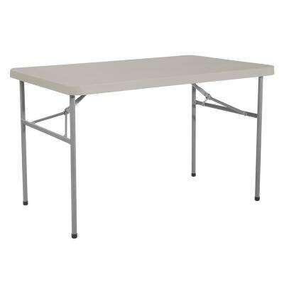 4 ft. Multi-Purpose Light Gray Resin Folding Table
