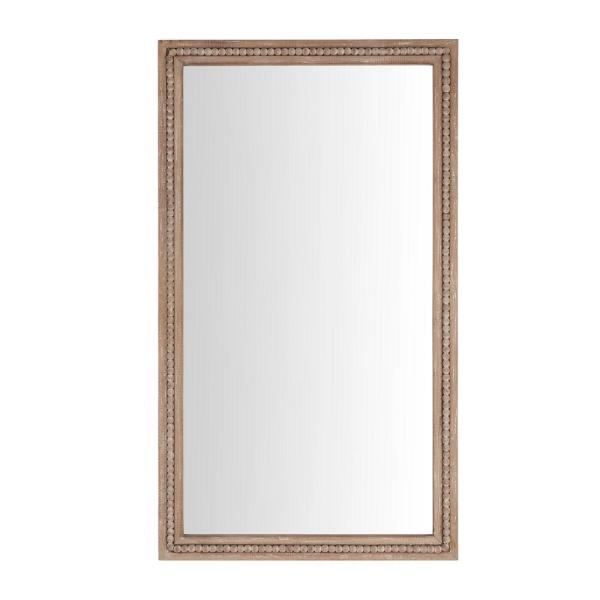 Large Rectangle Brown Antiqued Classic Accent Mirror (41 in. H x 23 in. W)