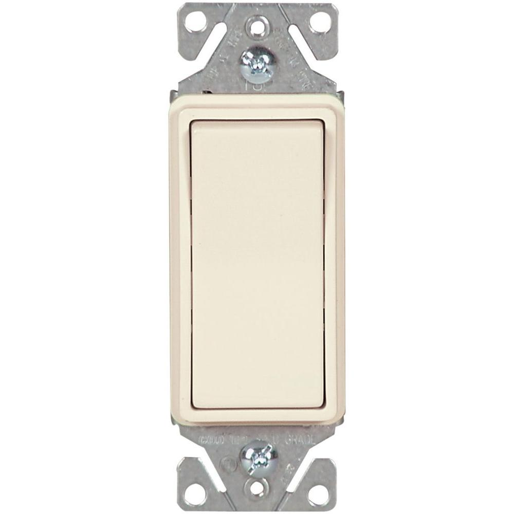 Single Pole Light Switches Wiring Devices Controls The How To Wire A Switch Diagram 15 Amp 120 Volt 277 Heavy Duty Grade