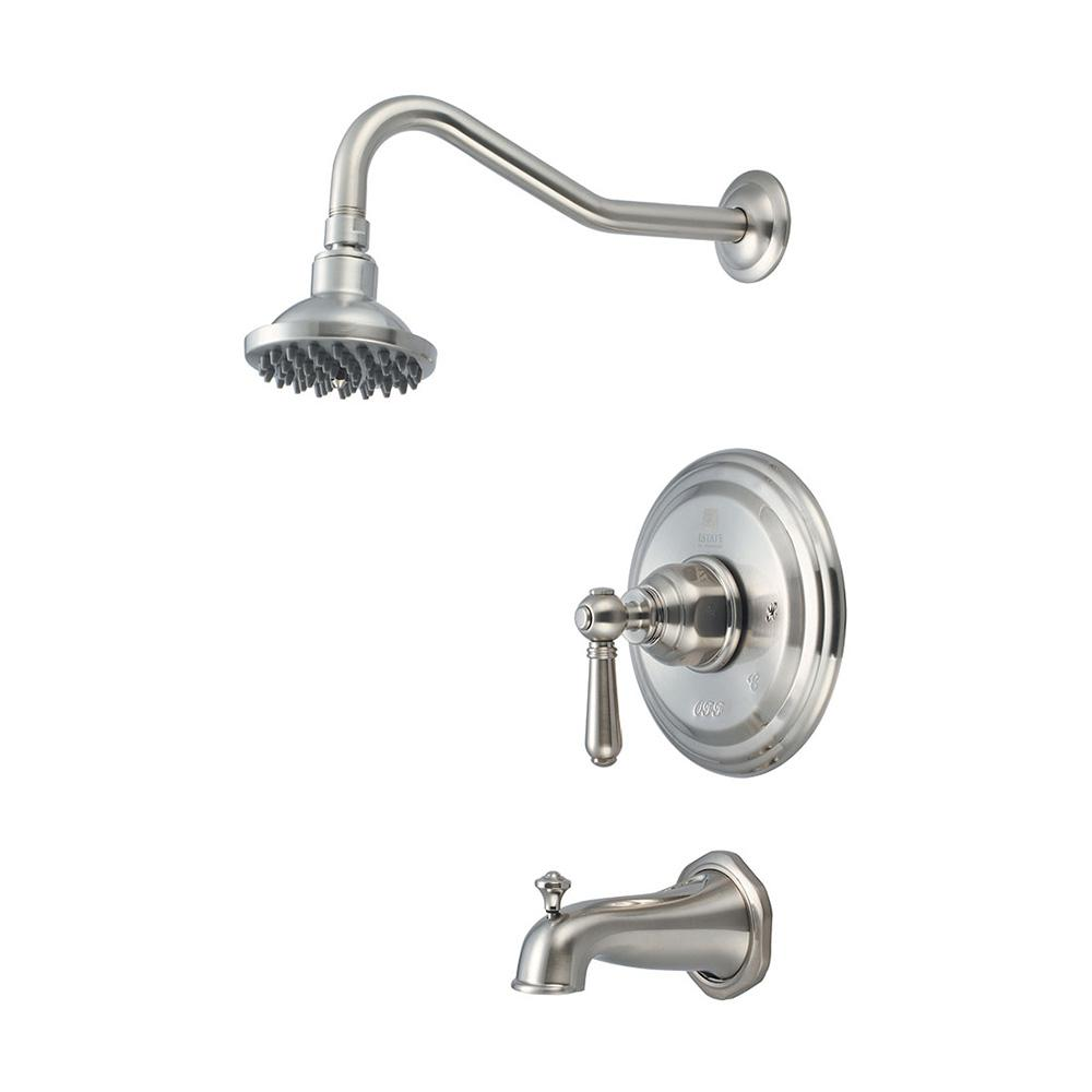 Pioneer Faucets Americana 1-Handle Tub and Shower Trim Kit in Brushed Nickel (Valve Not Included)