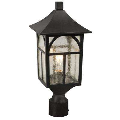 Negron 1-Light Outdoor Black Post Lantern