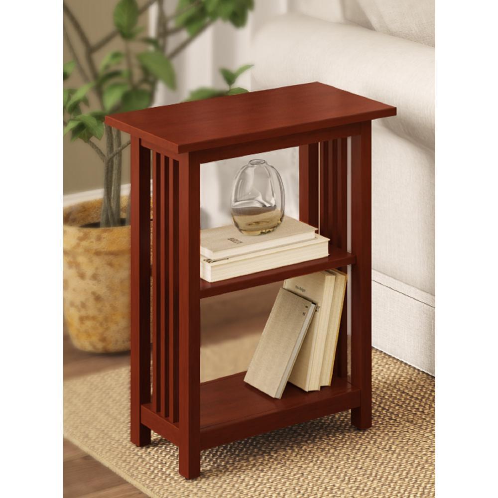 Cherry 2-Shelf End Table