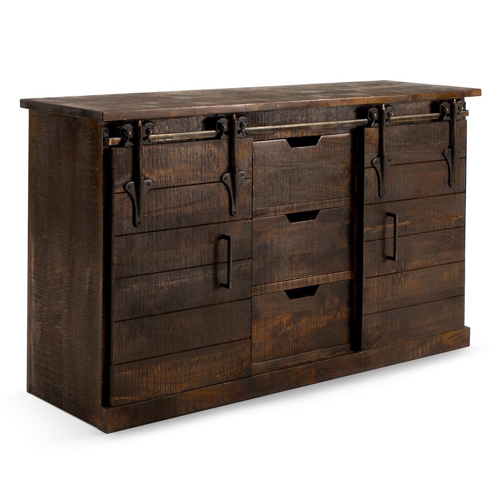 Wyatt Brown Barn Door Console Table