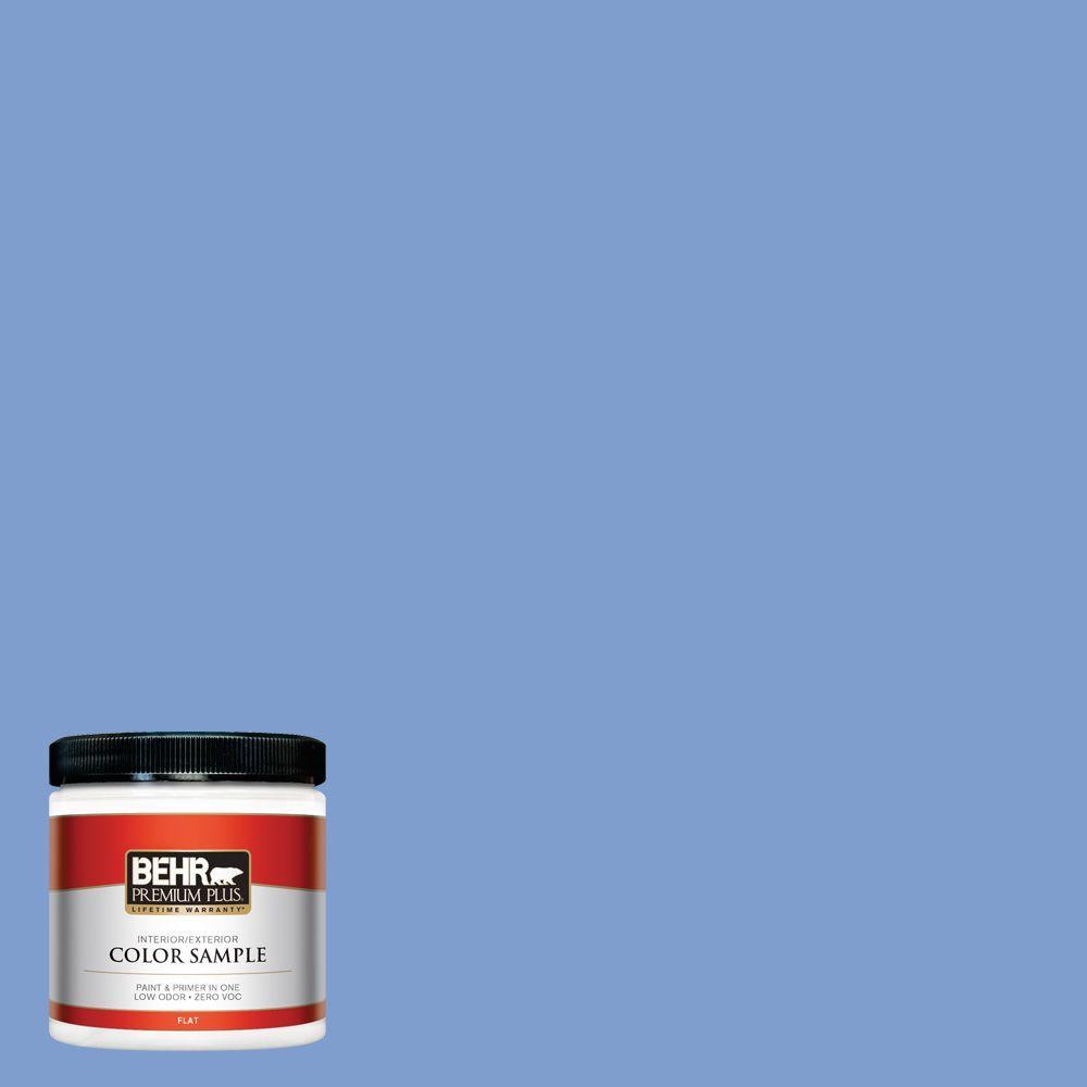 8 oz. #BIC-09 Caribbean Sky Interior/Exterior Paint Sample
