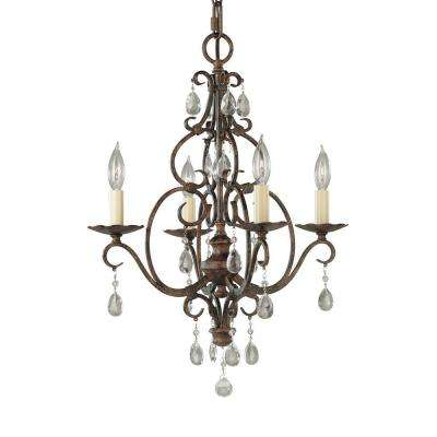 Chateau 4-Light Mocha Bronze Mini-Chandelier