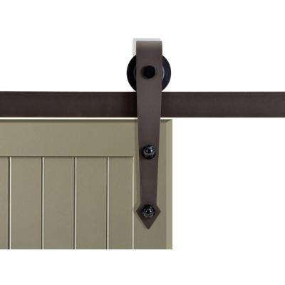 72 in. Antique Bronze Vintage Arrow Barn Style Sliding Door Track and Hardware Set