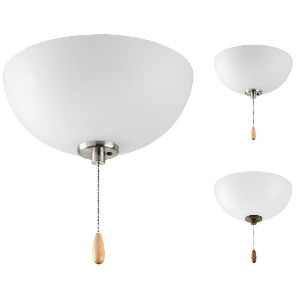 Bravo Collection 2-Light Unfinished Ceiling Fan Light Kit