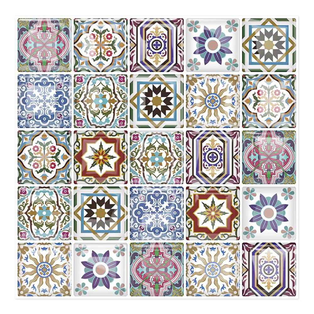 Tic Tac Tiles Moroccan Vora 10 in. W x 10 in. H Peel and Stick Decorative Mosaic Wall Tile Backsplash