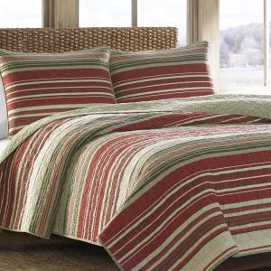 Yakima Valley Red Twin Quilt Set (2-Piece)