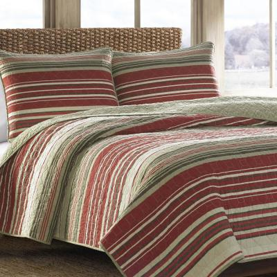 Yakima Valley Red King Quilt Set (3-Piece)