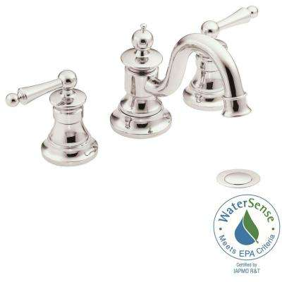 Waterhill 8 in. Widespread 2-Handle High-Arc Bathroom Faucet Trim Kit in Nickel (Valve Not Included)