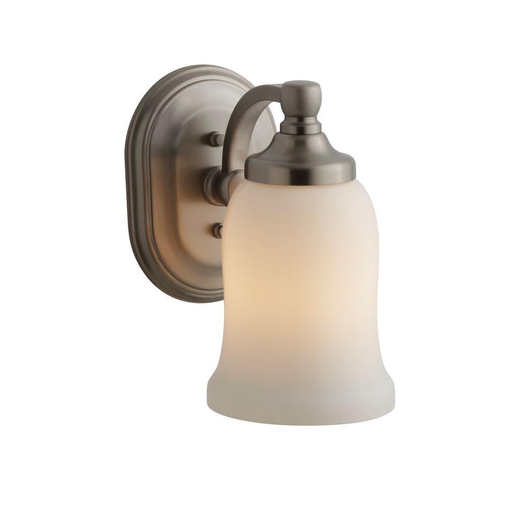 KOHLER Bancroft 1-Light Vibrant Brushed Nickel LED Wall Sconce-K ...