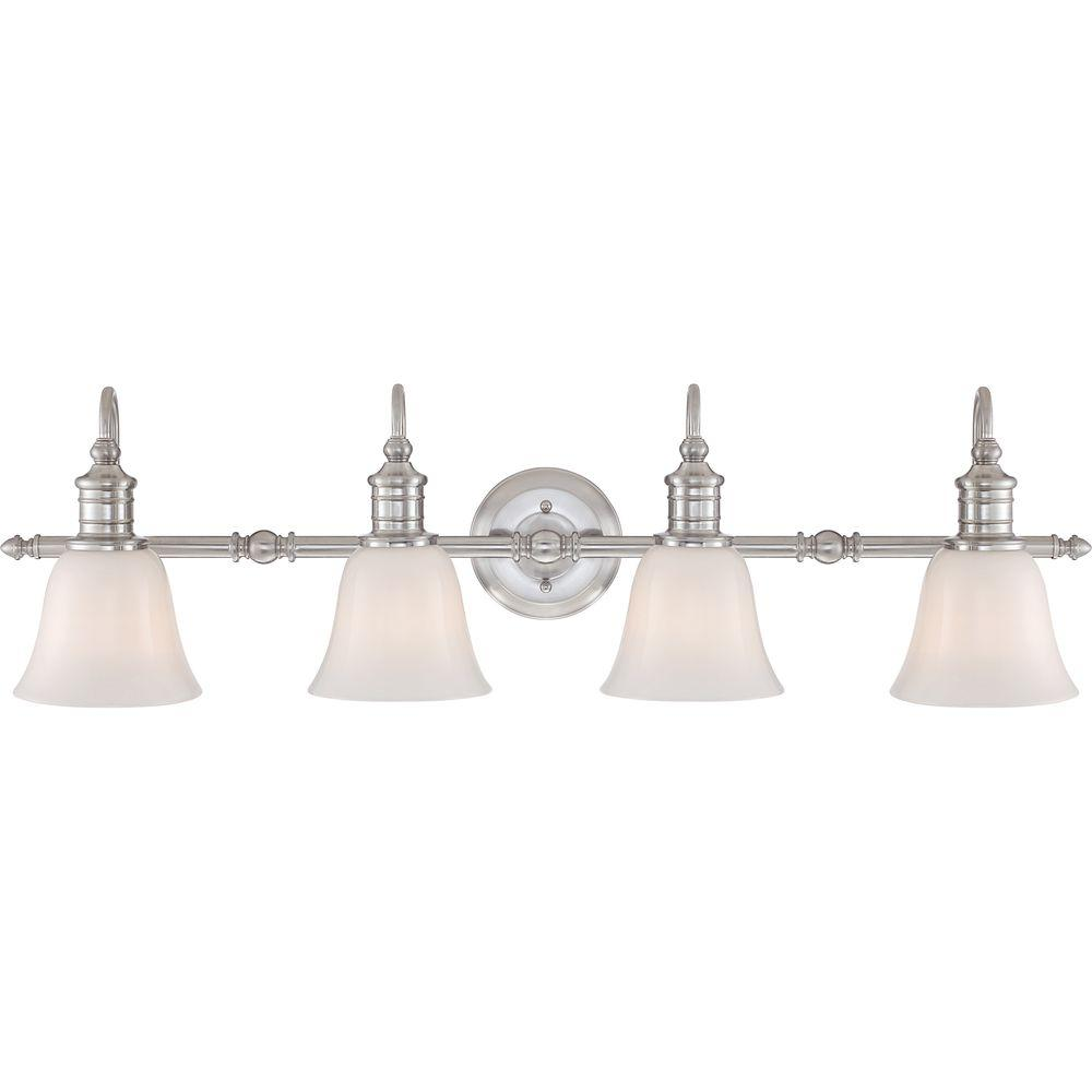 Home decorators collection broadway 4 light brushed nickel - Home decorators bathroom lighting ...