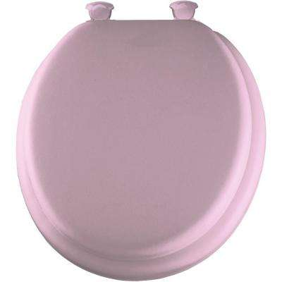 Soft Round Closed Front Toilet Seat in Pink