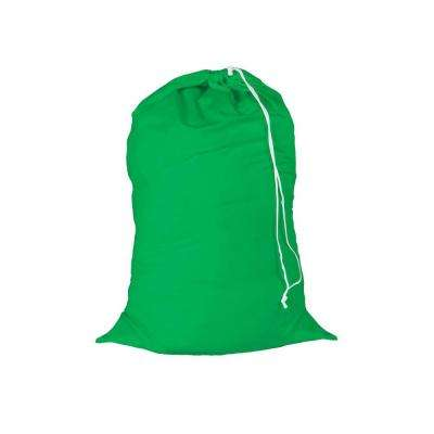 24 in. x 36 in. Green Jersey Cotton Laundry Bag