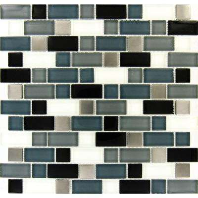 Mosaic Backsplash Multi Color Tile Flooring The Home Depot