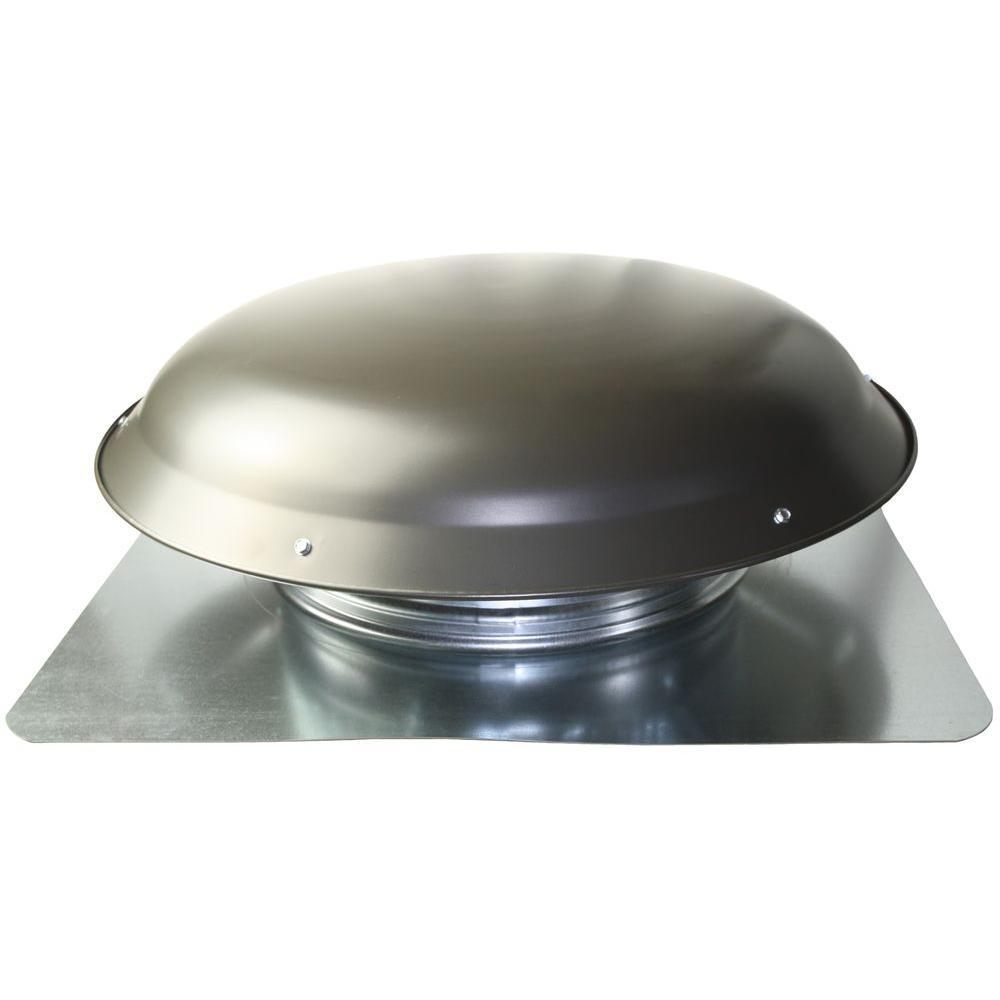 Ventamatic Cool Attic 1400 CFM Grey Weathered Galvanized Steel Power Attic Roof Ventilator