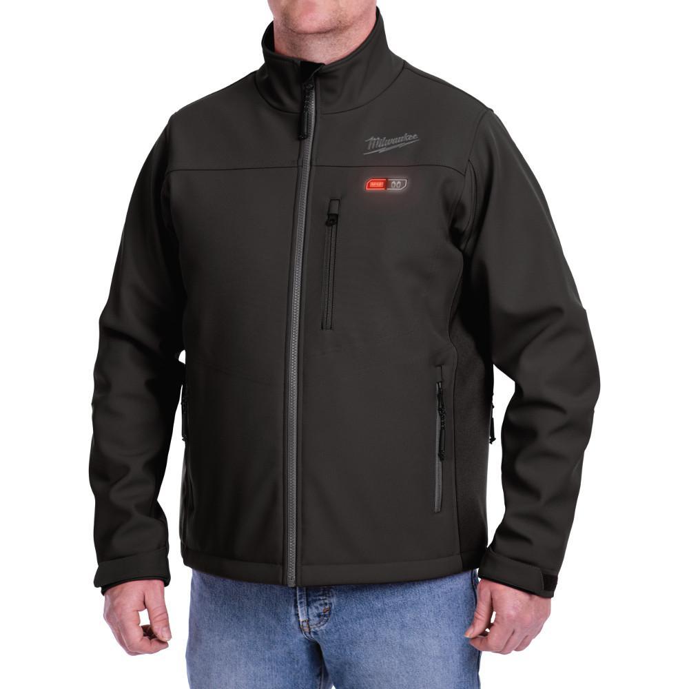 Men's Large M12 12-Volt Lithium-Ion Cordless Black Heated Jacket Kit