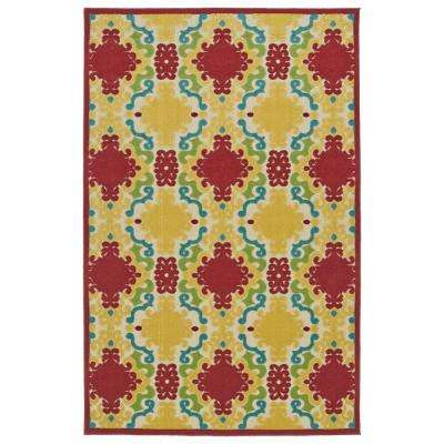 Five Seasons Red 9 ft. x 12 ft. Indoor/Outdoor Area Rug