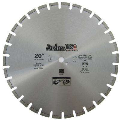 20 in. Diamond Blade for Asphalt Cutting