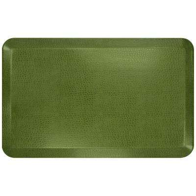 Designer Pebble Palm 20 in. x 32 in. Anti-Fatigue Comfort Kitchen Mat