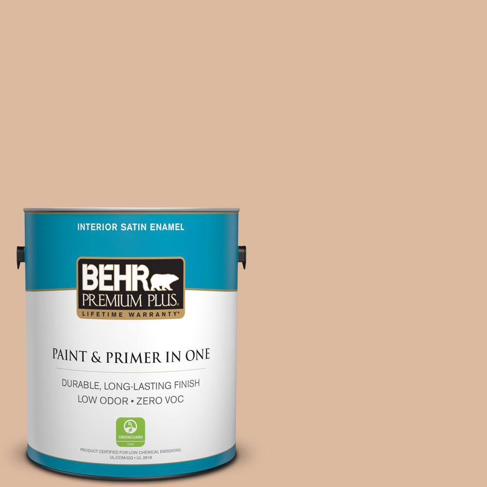 1 gal. #PPU3-09 Pumpkin Cream Satin Enamel Zero VOC Interior Paint