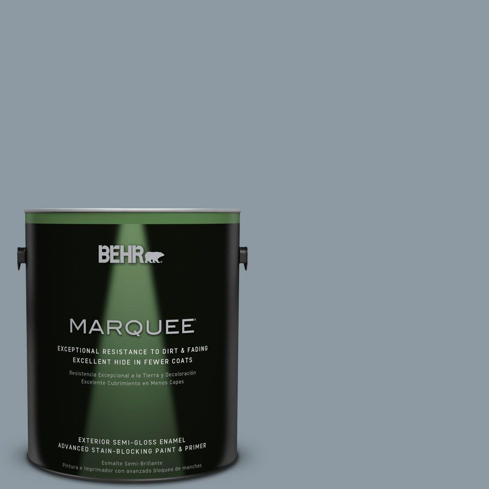 1-gal. #N490-4 Teton Blue Semi-Gloss Enamel Exterior Paint