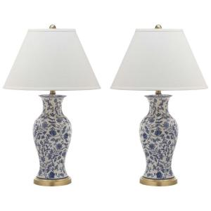 Safavieh Beijing 29 inch Blue and White Floral Urn Table Lamp by Safavieh