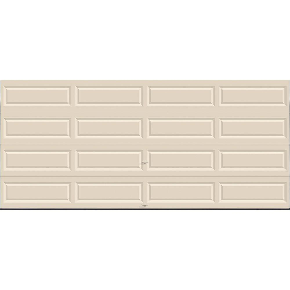 Clopay Value Series 16 ft. x 7 ft. Non-Insulated Solid Almond Garage Door