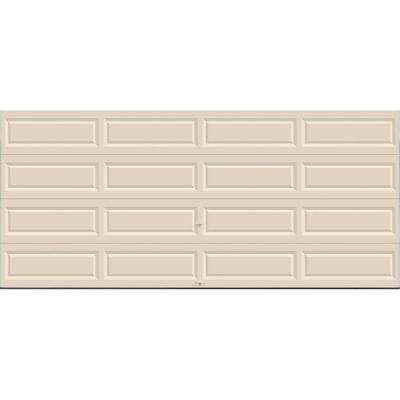 Classic Collection 16 ft. x 7 ft. Non-Insulated Solid Almond Garage Door