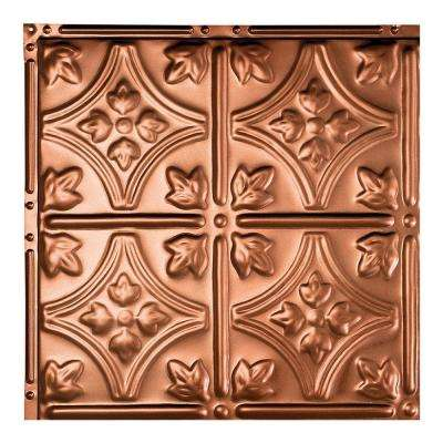 Hamilton Vintage Bronze 12 in. x 12 in. Nail-Up Ceiling Tile Sample