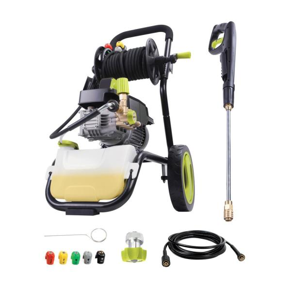 Commercial Series 1800 PSI Max 1.6 GPM Electric Pressure Washer with Wall Mount, Roll Cage and Hose Reel