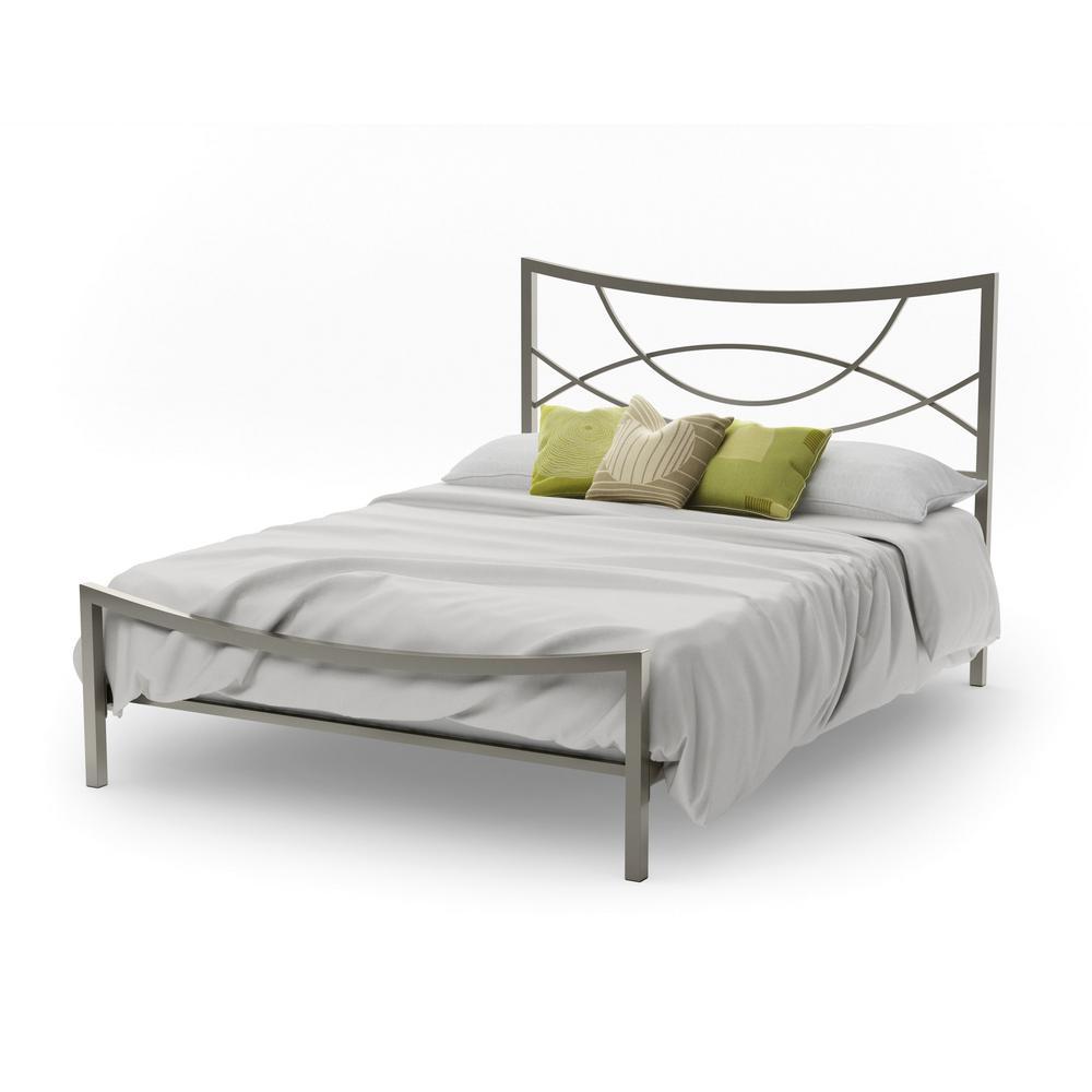 Equinox Light Grey Metal Queen Size Bed