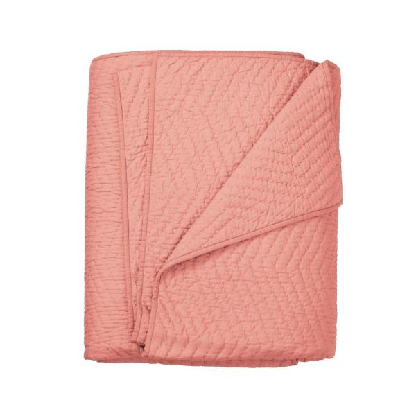 The Company Store Company Cotton Coral Full/Queen Quilt C3A3-FQ-CORAL