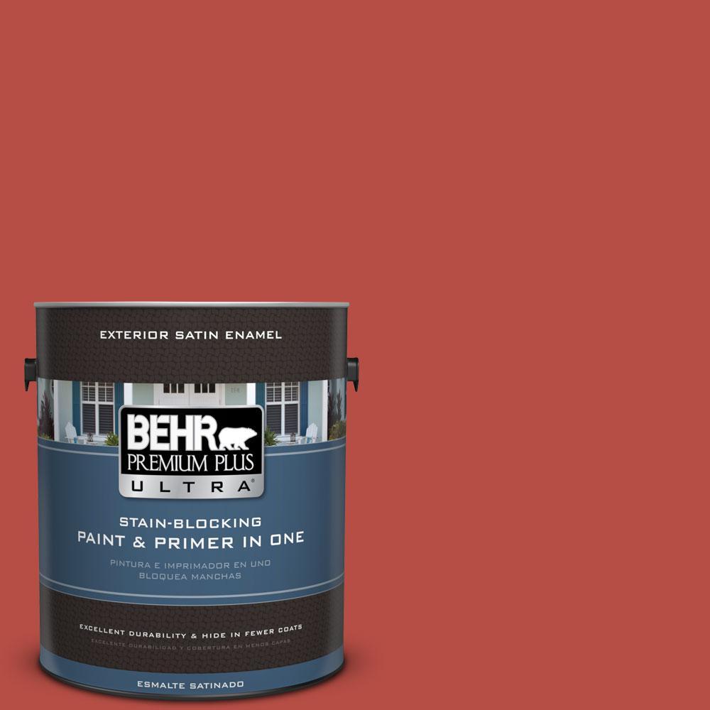 BEHR Premium Plus Ultra 1-gal. #M160-7 Raging Bull Satin Enamel Exterior Paint