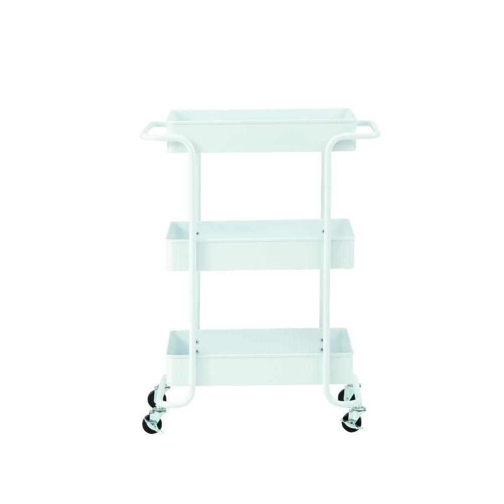 Steel Open Cart in Glossy White