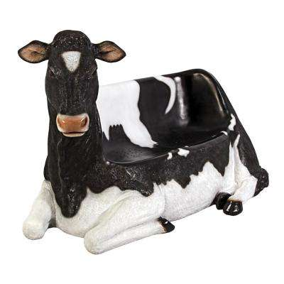 Cowch 2-Person 66 in. W Full Color Fiberglass Holstein Cow Outdoor Bench