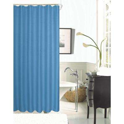 Hotel Collection Spa 251 Waffle 72 In River Blue Shower Curtain