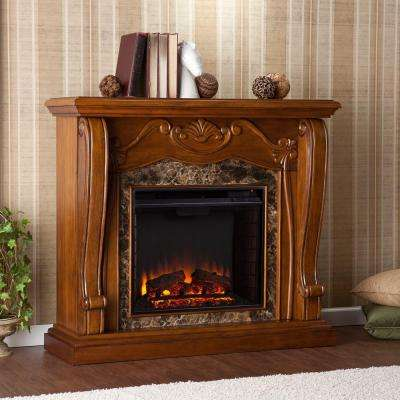 Lila 45.25 in. Freestanding Electric Fireplace in Walnut
