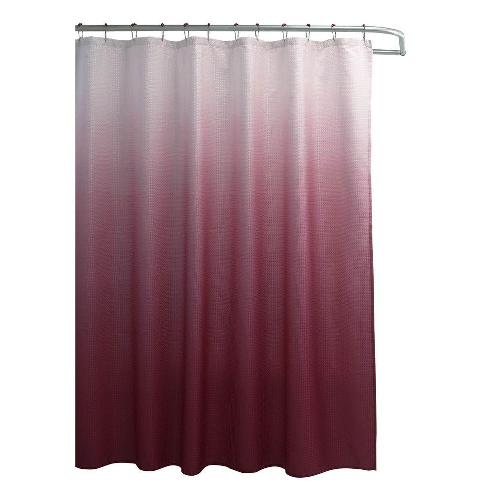 Famous Home Fashions Hip Squares Red Shower Curtain-901745 - The ...
