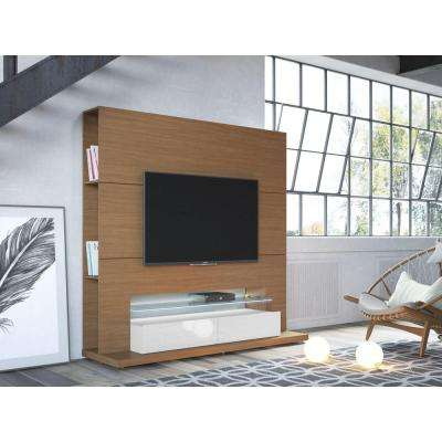 Riverside Maple Cream and Off White Entertainment Center