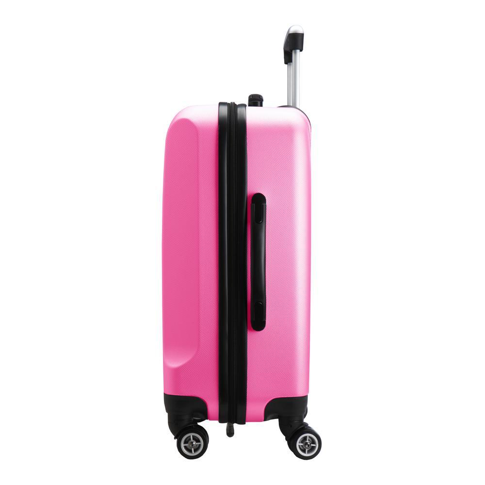 Denco NCAA Eastern Washington Eagles Carry-On Hardcase Luggage Spinner Pink